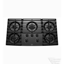 WhirlpoolGold(R) 36-inch Gas Cooktop with Five Burners and Tempered Glass Surface
