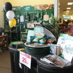 The Big Green Egg barbecues were on full display with a 25% sale on accessories.