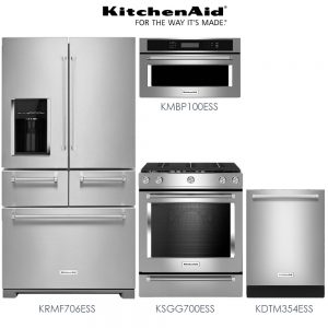 itchenAid 4-Piece Premium Stainless Steel Kitchen Package
