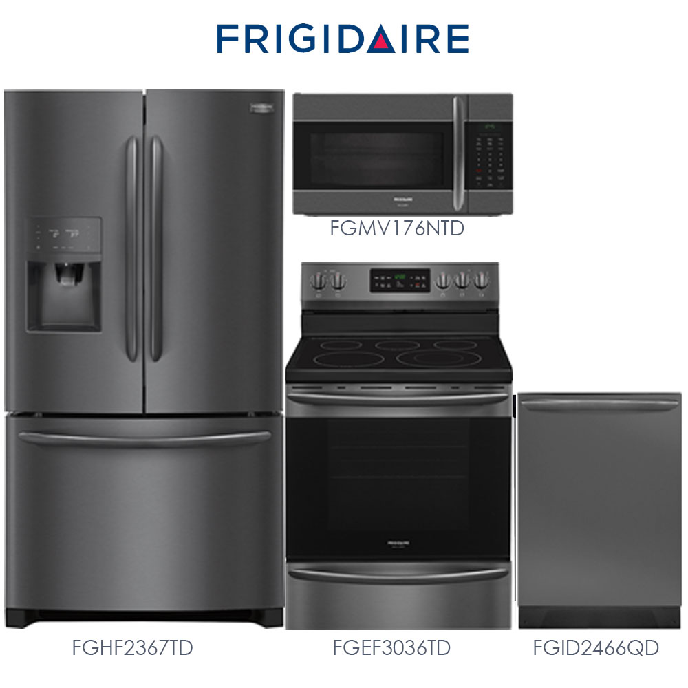 Discount Package New Frigidaire Gallery Black Stainless