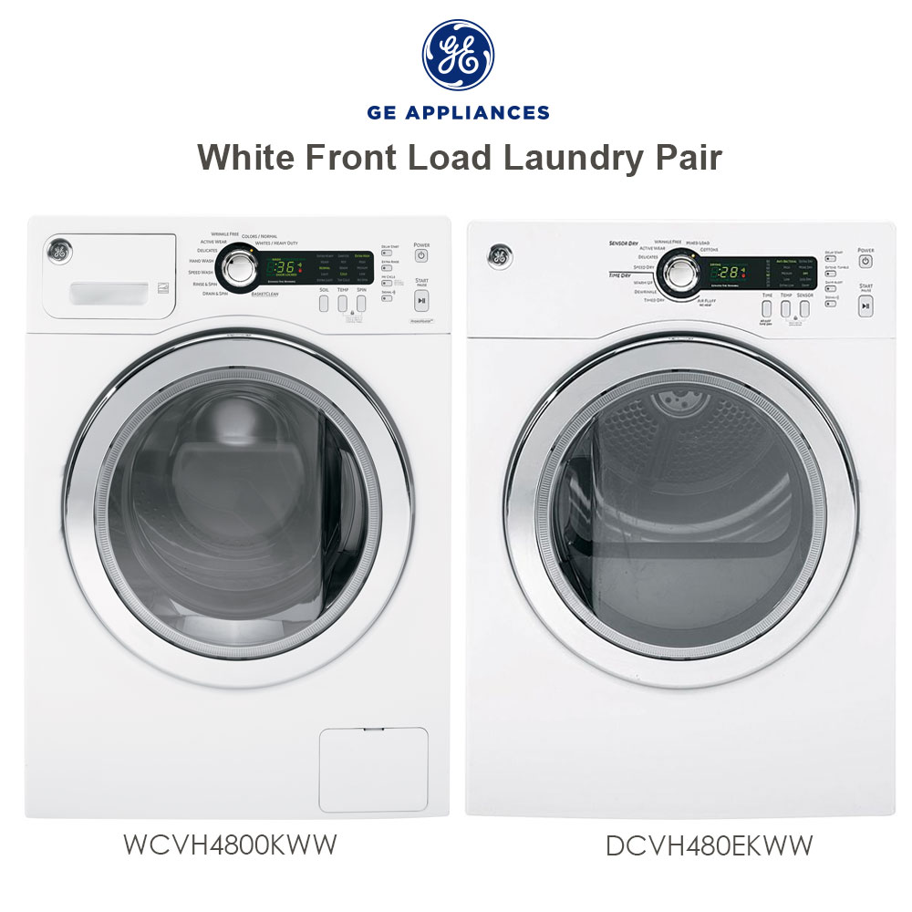 discount package ge white front load washer and electric. Black Bedroom Furniture Sets. Home Design Ideas