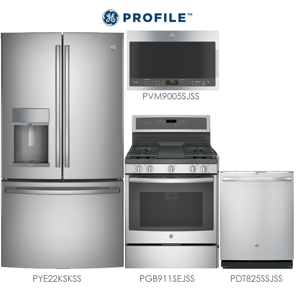 GE Profile   4 Piece Stainless Steel Kitchen Package