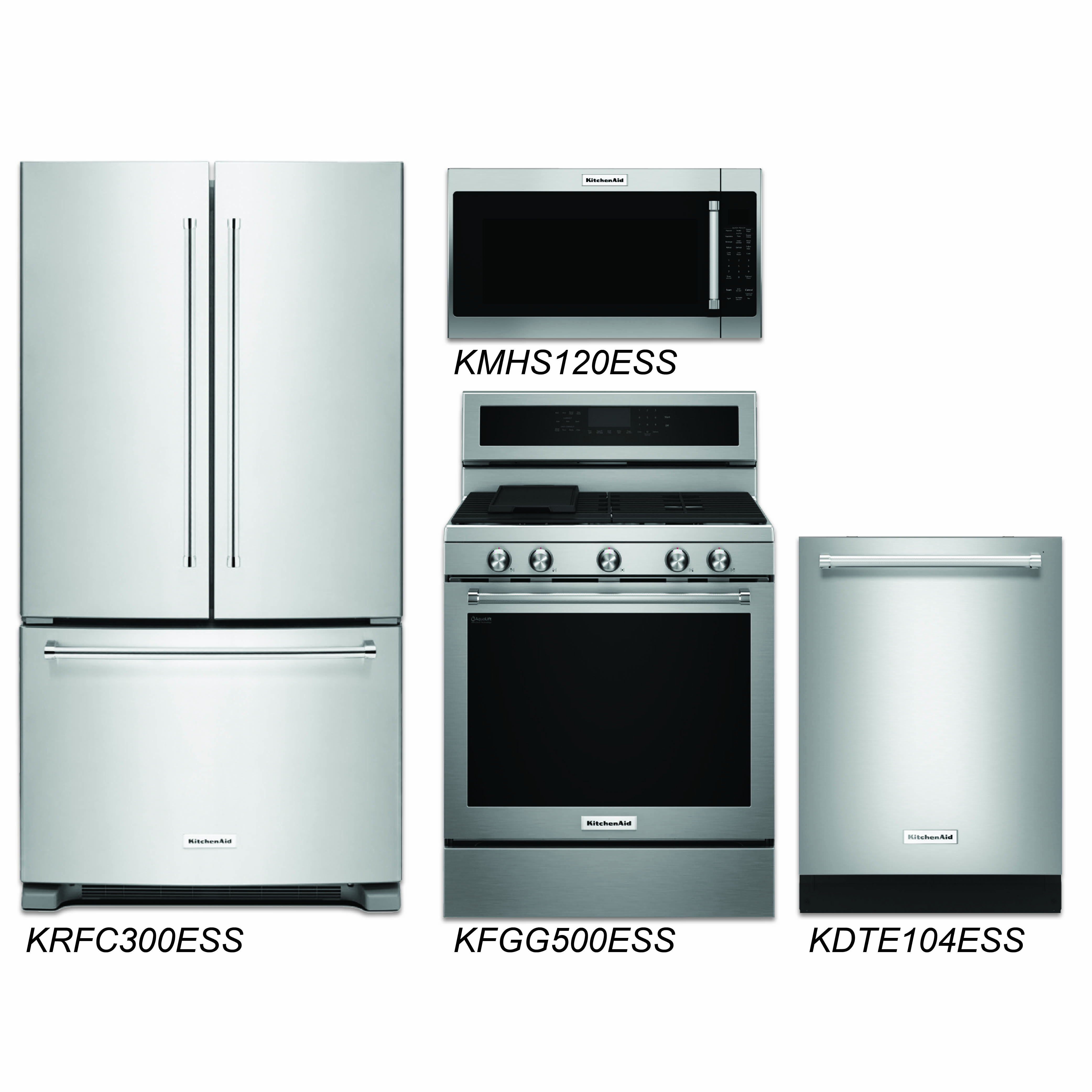 Discount Package KitchenAid - 4-Piece Stainless Steel Discount ...