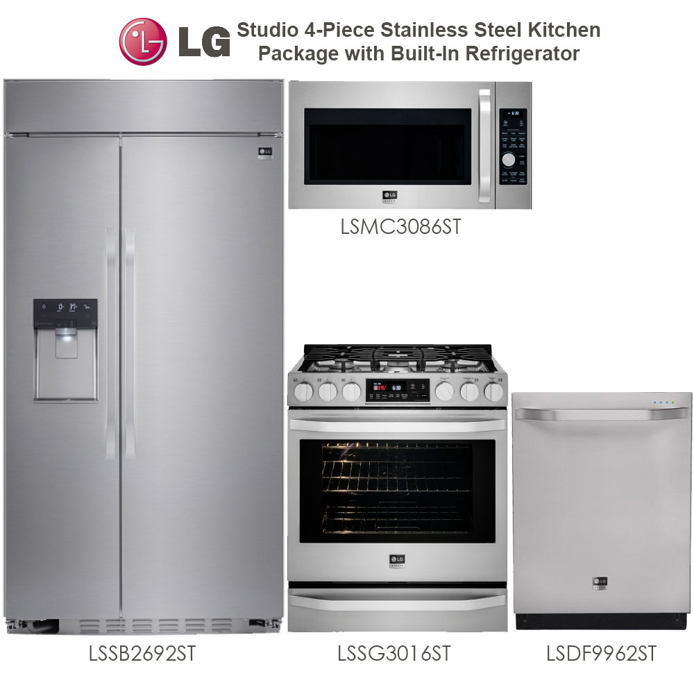 Discount Package Lg Studio 4 Piece Stainless Steel Kitchen