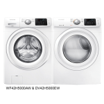 Samsung Front Load Laundry Pair with Optional Pedestals